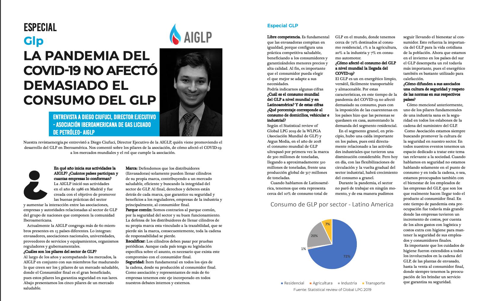 Entrevista DIEGO ALVES AIGLP Revista Energia Peru